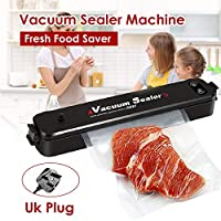 Festnight Vacuum Sealer Machine Mini Fresh Food Saver Home Kitchen Medicine Chemical Industry Full-Automatic Vacuum Sealer