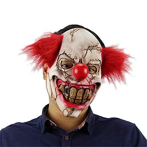 Tee-Moo Máscara de Payaso de Halloween Adornos de Terror de látex para Fiestas Disfraces de Disfraces de Cosplay máscaras Scary Zombie Devil Joker Máscara de Terror B