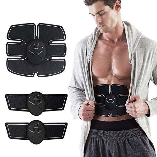 EMS-Bauchmuskeltrainer, Bauchmuskeltoner-Gürtel, kabellos, tragbar, Fitness-Gerät zum Bauch-, Arm- und Bein-Training  für Zuhause und im Büro, Unisex