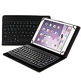 Slick-Prints Universal-Tablet-Etui aus Kunstleder QWERTY Abnehmbare magnetische Tastaturständer Drahtlose Bluetooth Verbindung TrekStor SurfTab Duo W1 (10