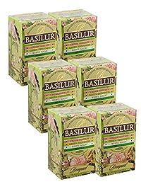 Basilur   Bouquet Collection   Single Origin   100% Pure Ceylon   Assorted Green Tea Variety Pack  Non GMO   Garden Fresh & Antioxidant Rich   20 Count Foil Enveloped Teabags (Pack of 6)