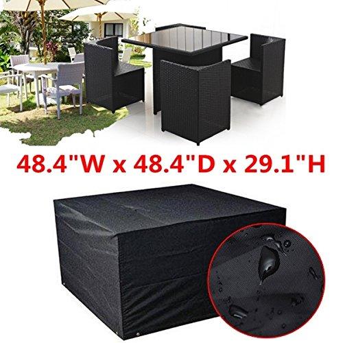 Cube Chair Tisch (mark8shop Wasserdicht Cube Set Tisch Stuhl Shelter Garten Möbel Regen Cover)