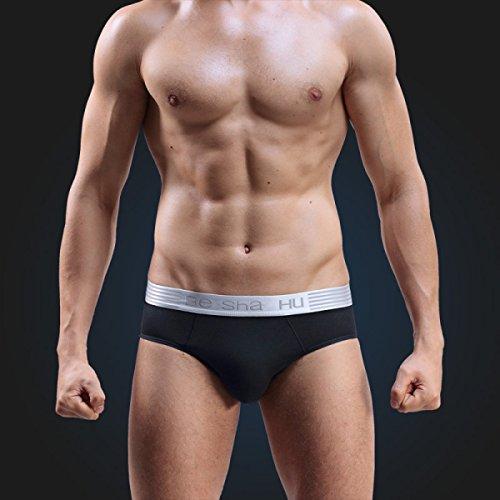 ZHXUANXUAN Uomini Slip U Convessa Biancheria Intima Sexy Traspirante Cotone Vita XL Bikini (2 Pack) 6