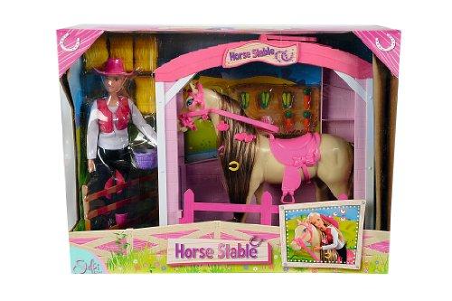 Simba 105730373 - Steffi Love Puppe mit Pferd und Stall
