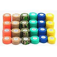 quanjucheer Self Adherent Elastic Bandage Breathable Wrap Tape for Pet Dog Cat Random Color S
