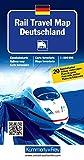 Rail Travel Map Deutschland: Massstab 1:800 000, Eisenbahnkarte, mit 20 Bahnhofspläne (Kümmerly+Frey Thematische Karten, Relief) -