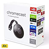 4K Chromecast WiFi Display HD TV Screen Mirroring Wireless TV Dongle
