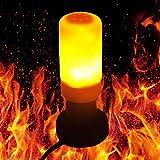 SDYDAY E27AC 85–265V LED-Flamme Effekt Fire Glühlampen, Emulation Flamme Lampe für Weihnachten Urlaub Garten/Party Dekoration, die Romantische Atmosphäre, Wie Abgebildet, 124mm Length