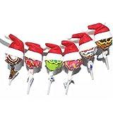 Mini Babbo Natale Cappelli Lollipop Decorazioni, 4.5x3, Set di 30 Pezzi (4 * 7CM-30PCS)