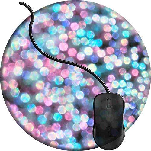 Preisvergleich Produktbild Mauspad Tiffany Snow,  Runde Gaming Mauspad Matte Reibungslos Weich Rutschfester Gummi Basis für PC Laptop 1U56