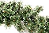 Butterfly 2,7m Tannengirlande Ø ca. 20-40cm grün mit hellgrünen Spitzen Kiefer Außen Innen Balkon Garten Kamin Weihnachtsdeko Weihnachtsgirlande künstliche Girlande (Grün Hellgrün)