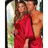 HYW Europa Y Los Estados Unidos Caliente Ropa Interior Sexy Ropa Interior Traje de Gran Tama?o Pijama Estilo Femenino,Rojo,XXL