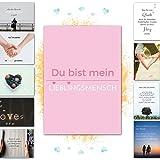 20 hochwertige Karten LIEBE – Postkarten zum Hochzeitstag, Jahrestag, Glückwunsch zur Hochzeit, Karte für beste Freundin