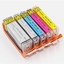 INKWAY PGI-550 CLI-551 - Cartuchos de Tinta comestibles de Repuesto para Canon