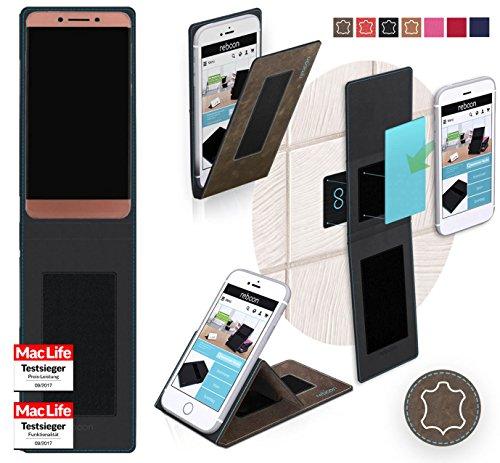 Hülle für LeEco Le Pro 3 Tasche Cover Case Bumper   Braun Wildleder   Testsieger