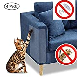 Andy Herr Cat Scratch Möbel,4 PCS klare Premium Pflicht flexiblem Vinyl Pet Couch Displayschutzfolie Wachen,diskret Cat Scratch Möbel Displayschutzfolie,die Polsterung zu schützen, Wände,Matratze,Tür