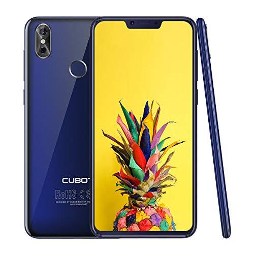 CUBOT P20 4G LTE Dual SIM Smartphone Android 8,0, 6,18 Zoll IPS Bildschirm, 4000 mAh Akku 4GB RAM+64GB ROM 20MP Rückkamera+13MPFrontkamera 0.1s Fingerprint Sensor Handy Ohne Vertrag (Blau) -