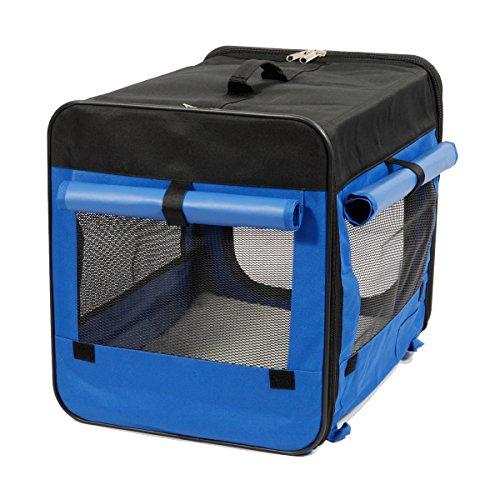 Captain Pet Hunde-Transportbox/tragbare Hundehütte, leichtes Gewicht, weich, zusammenklappbar, Nylon/Polyester, 600D-Stoff, mehrere Größen und Farben erhältlich