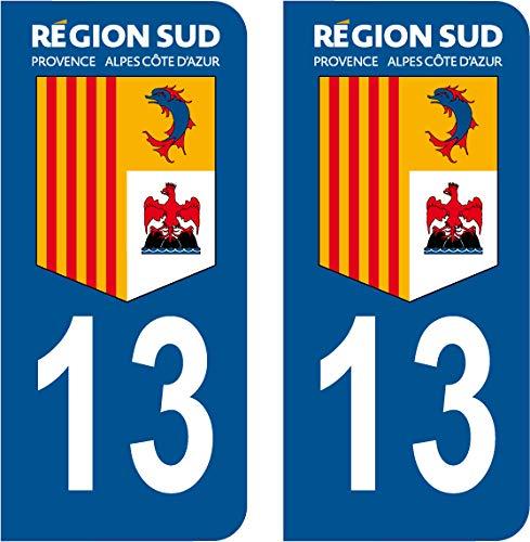SAFIRMES 4 Stickers Style Auto Plaque immatriculation Noir R/ÉGION /ÎLE DE France 75