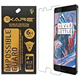 One Plus 3T Screen Protector, iKare Impossible Fiber Tempered Glass Screen Protector for OnePlus 3T (REUSABLE, ULTRA CLEAR, REAL SHOCK PROOF, UNBREAKABLE)