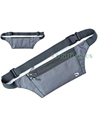 Buyworld Unisex Anti-Theft Slim Travel Walking Pouch Cell Mobile Phone Chest Waist Fanny Pack Bags Chest Bag