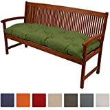 Beautissu® Cojines para bancos Flair BK 120x50x10 cm Cómodo acolchado Banco de jardín/columpio Hollywood Verde