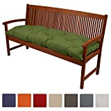 Beautissu Bench Pad Flair BK Comfortable Cushion 120 x 50 x 10 cm Swing or 2 Seater Garden Bench Cushion Green