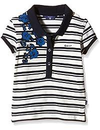 Gant Sc. Striped Blue Flower Ss Pique - Polo - Fille