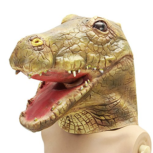 JenNiFer Crocodile Alligator Mask Creepy Animal Halloween Kostüm Prop Party Cosplay Deluxe ()
