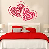 #3: Grand Pixelstm Symbol Of Love With Many Hearts Pvc Vinyl Wall Sticker , 70 Cm X 50 Cm