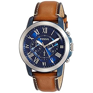 Fossil Grant Chronograph Blue Dial Men's Watch – FS5151