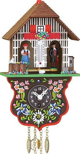 Black Forest Uhr Schwarzwald House Wetter House, inkl. batterie