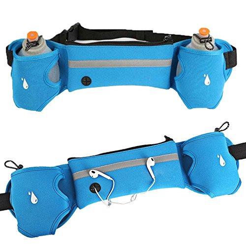 Beetest Sport Impermeabile Riflettente Cintura Marsupio / Sudore-assorbente Traspirante Running Fanny Pack / a Piedi Hip Pack per Cellulari, Rose-rosso Blu