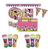 Kit per Feste E Compleanno Minnie 40 Persone - Minnie Party Coordinato TAVOLA Feste Compleanni ADDOBBI