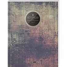 """TULPE Blanko Notizbuch A4 """"C118 Schlichte Wand"""" (140+ Seiten, Vintage Softcover, Seitenzahlen, Register, Weißes Papier - Dickes Notizheft, Skizzenbuch, Zeichenbuch, Blankobuch, Sketchbook)"""