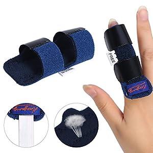 Adjustable Finger Splint Brace, Finger Tendon Release & Pain Relief Fixing Belt with Built-in Aluminium Support