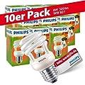 10x Philips Tornado Spiral 8W Performance ESaver Energiesparlampe 827 E27 warmweiss extra von Philips - Lampenhans.de