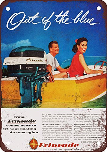 metal Signs 1957 Evinrude Boat Motors Vintage Look Reproduktion Metall Blechschild 30,5 x 45,7 cm 3 (Motor Union Pacific)