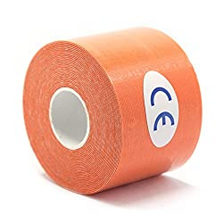 orange : Elastic Cotton Roll Adhesive Sport Injury Muscle Tape Strain Protection Tapes First Aid Bandage Support Kinesiology Tape