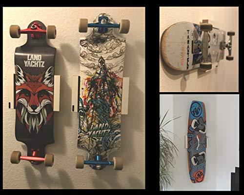Universal Wandhalterung hoch für Skateboard Longboard Kiteboard Halterung Wandmontage Wandhalter Halter Holz