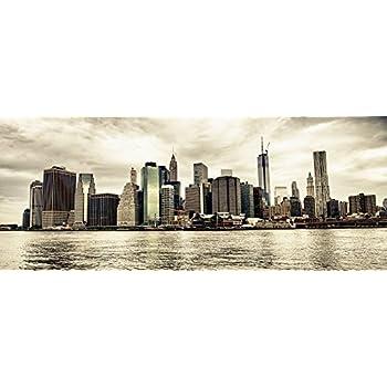 Bilderwelten Spritzschutz Glas - New York Skyline bei