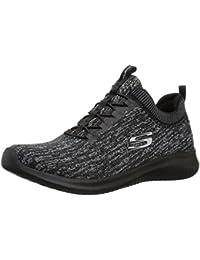 Skechers 22499 - Zapatillas de Sintético Mujer, Color Negro, Talla 38,5 EU (M)