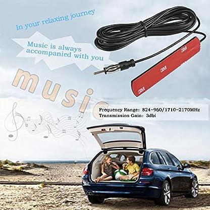 QLOUNI-Autoradio-Antenne-FM-Radio-Antenne-Auto-Antenne-Radio-Patch-Antenne-Auto-radioantenne-fr-FM-Radio-Autos-LKWs-Windschutzscheiben-Paste-Antenne-Universal-mit-5m-Kabel
