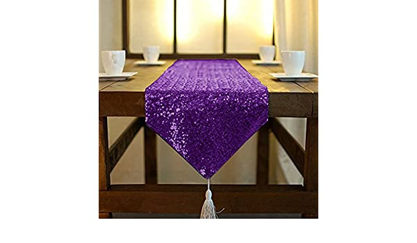 Glitzer Pailletten Stoff Tischl/äufer mit Quaste Party Hochzeit Bankett Tisch Leinen Layout oder Dekoration ShinyBeauty Light Gold Shimmer Pailletten-Tischl/äufer 30 x 180cm