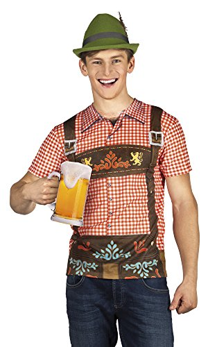 Panelize Trachtenshirt Trachtenhemd Trachtenkleidung Seppl Oktoberfest Bayrischer Abend (XL)
