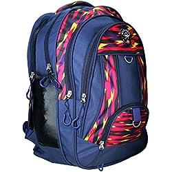 Apnav Polyester 30 Ltrs Navy Blue School Bag
