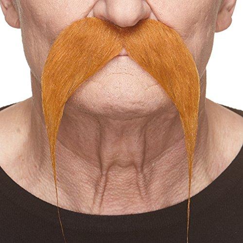 Selbstklebende Fälscher Schnurrbart Neuheit Kung-fu Master Falsch Gesichtsbehaarung Kostümzubehör für Erwachsene Ingwer Farbe
