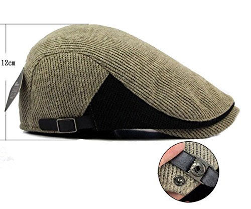 Winter Mens Flat Cap Style Knitted Wool Irish Warm Hat 5 Colors,55-60cm