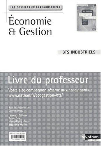 Economie et gestion BTS industriels