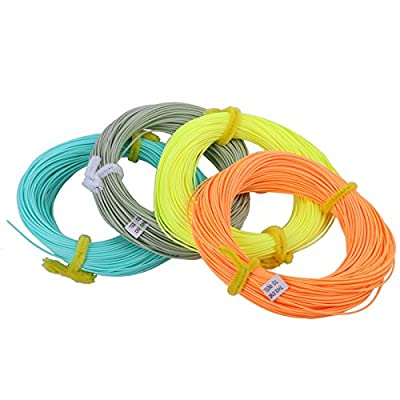 Maxcatch Weight Forward Floating Fly Line 100ft Yellow, Orange, Teal Blue, Moss Green (2F,3F,4F,5F,6F,7F,8F) by Maxcatch